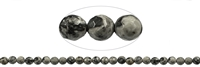 String Beads, Zebra Marble, faceted, appr. 06mm