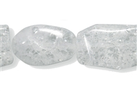 String Pebbles, Crashed Crystal, 12-18 x 11-14mm