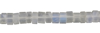 String Cylinder, Labradorite (white) AA, faceted, 04 x 07-08mm