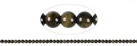 String Beads, Obsidian (Gold Sheen), 04mm