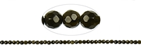 String Beads, Obsidian (Gold Sheen), faceted, 04mm
