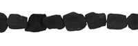 Strang Nuggets, Obsidian (schwarz), roh, 12 – 17mm