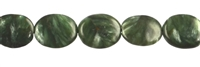 String Oval flat, Serafinite, appr. 10 x 08mm