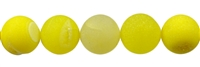 String Beads, Agate yellow (dyed), frosted, 14mm