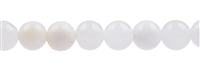String Beads, Agate white-grey, 10mm