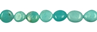 String Nuggets flat, Amazonite light, appr. 10 -11 x 08 - 10 x 04 - 06mm