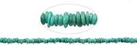 String Chips, Amazonite light, appr. 03 - 04 x 08 - 12mm