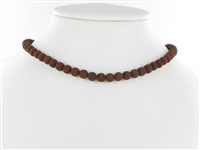 String Beads, Lava (brown), 06mm