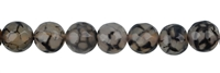 String Beads, Agate (Snake) black (dyed) faceted, 10mm, 38cm