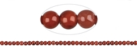 String Beads, Agate red (natural), 04-05mm