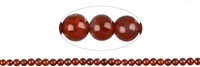 String Beads, Agate red (natural), 06-07mm