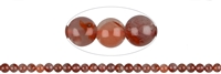 String Beads, Agate red (natural), 07-08mm