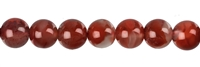 String Beads, Agate red (natural), 08-09mm
