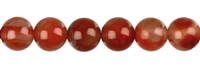 String Beads, Agate red (natural), 09-10mm