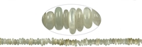 String Chips, Moonstone (green), appr. 03-04 x 08-12mm