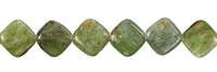 String Cuboid flat, Disthene (green), 12 x 12 x 5mm