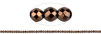 String Beads, Hematine brown (dyed), faceted, 02mm