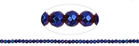 String Beads, Hematine blue (dyed), faceted, 03mm