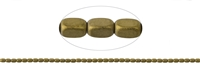 String Cuboid rounded, Hematine gold (dyed) frosted, 05 x 03mm