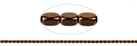 String Cuboid rounded, Hematine brown (dyed), 05 x 03mm