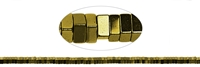 String Cuboid, Hematine gold (dyed), 01 x 02 x 02mm