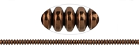 String Button, Hematine brown (dyed), 02 x 04mm