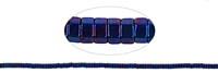 String Cylinder, Hematine blue (dyed), 01 x 02mm