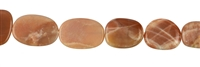 String Oval flat, Aventurine Moonstone, appr. 24-40 x 20-30mm