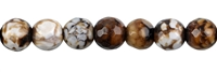 String Beads, Agate (Savanna) brown (dyed), faceted, 10mm