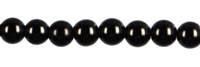String Beads, Spinell (black), 04mm