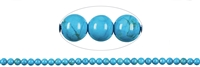 String Beads, Turquenite (dyed Magnesite), 06mm