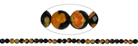 String Beads, Agate (Sunset) orange (dyed), facetted, 06mm