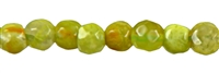 String beads, faceted Pistachio Opal, approx 04mm