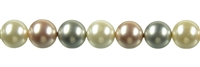 "String Beads, Shell Pearls ""Mix 1"", 10mm"