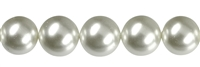 String Beads, Shell Pearls white, 14mm