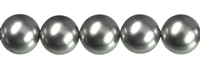 String Beads, Shell Pearls silver grey, 14mm