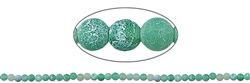 String Beads, Agate (Snake) green (dyed), frosted, 04mm, 37cm
