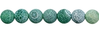 String Beads, Agate (Snake) green (dyed), frosted, 16mm