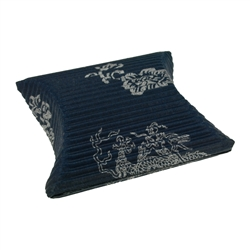 Cushion Box, 10 x 11,5cm, blue/silver (50 pc/VE)