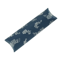 Cushion Box, 06 x 30cm, blue/silver (50 pc/VE)