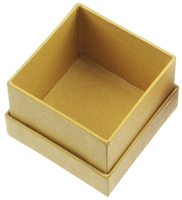 Jewellery Box, 9,5 x 9,5cm, yellow (12 pc/VE)