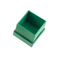 Jewellery Box, 02,5 x 02,5cm, green (48 pc/VE)