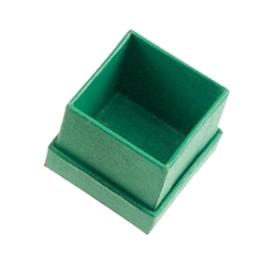 Jewellery Box, 4,5 x 4,5cm, green (24 pc/VE)