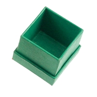 Jewellery Box, 5,5 x 5,5cm, green (24 pc/VE)