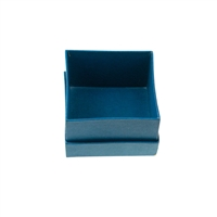 Jewellery Box, 02,5 x 02,5cm (Size 1), blue (48 pc/VE)