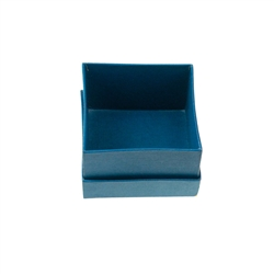 Jewellery Box, 2,5 x 2,5cm, blue (48 pc/VE)