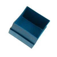 Jewellery Box, 4,5 x 4,5cm, blue (24 pc/VE)