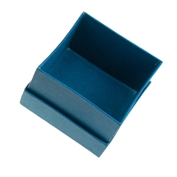 Jewellery Box, 5,5 x 5,5cm (Size 4), blue (24 pc/VE)