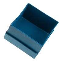 Jewellery Box, 7,5 x 7,5cm, blue (12 pc/VE)