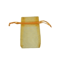 Organza Bag, 06 x 10cm, gold (50 pc/VE)